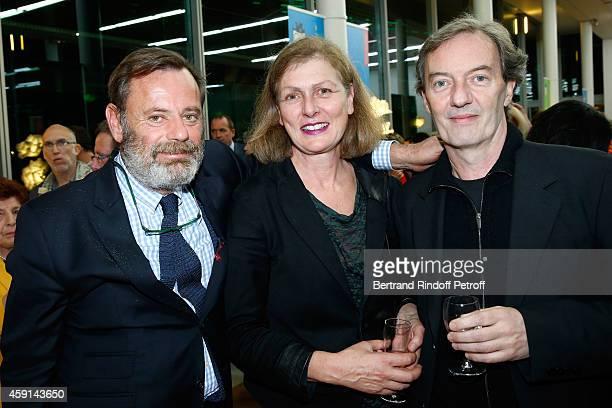 Louis Benech with Architecs of 'Maison de Solenn' Myrto Vitart and JeanMarc Ibos attend the 'Maison de Solenn' 10th Anniversary on November 17 2014...