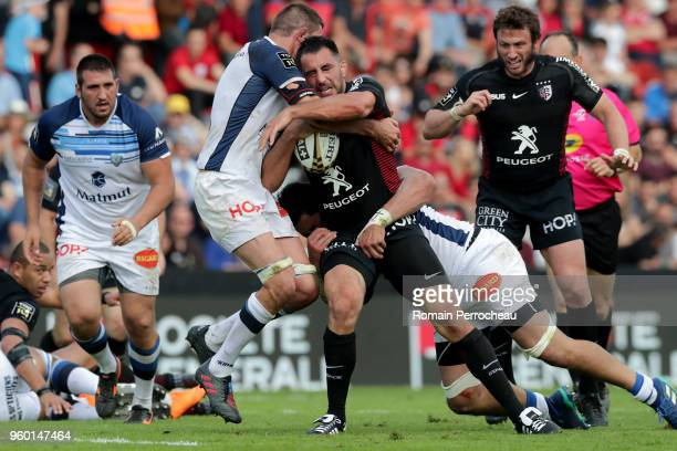 Louis Benoit Madaule of Toulouse in action during the French Top 14 match between Stade Toulousain and Castres at Stade Ernest Wallon on May 19 2018...