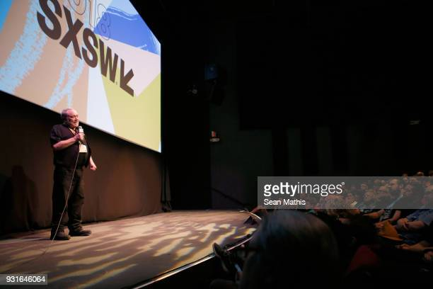 Louis Black speaks onstage at the premiere of 'First Reformed' during SXSW at Elysium on March 13 2018 in Austin Texas