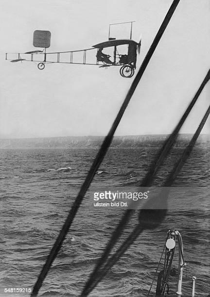 Louis Bleriot France pilot during his flight over the Britis Channel 1909