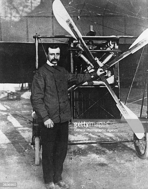 Louis Bleriot the French air pioneer who made the first flight across the English Channel with one of his monoplanes