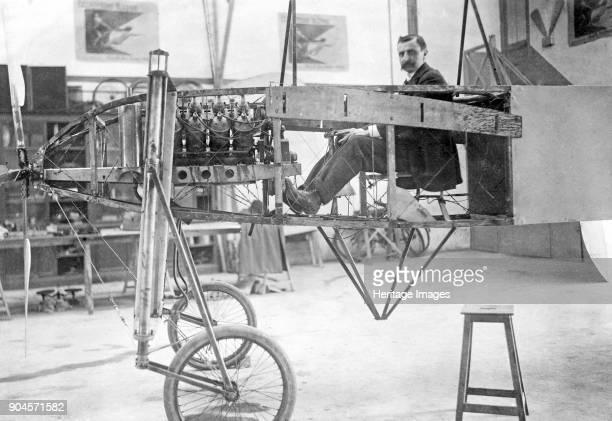 Louis Blériot sitting in his monopolane c 1920