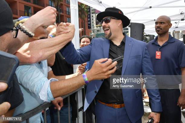 Louis BReal Freese greets fans after Cypress Hill is honored with a star on The Hollywood Walk Of Fameon April 18 2019 in Hollywood California