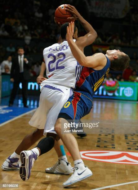 Louis Bullock of Real Madrid in action during the Euroleague Basketball Game 12 between Real Madrid vs Axa FC Barcelona at the Palacio Vistalegre on...