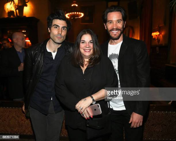 Louis Cancelmi talent manager Serena Esposito and Tom Pelphrey attend the Gersh Upfronts Party at The Jane Hotel on May 16 2017 in New York City
