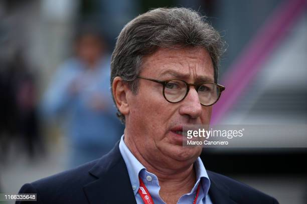 Louis Carey Camilleri Ceo of Ferrari in the paddock during the F1 Grand Prix of Italy.