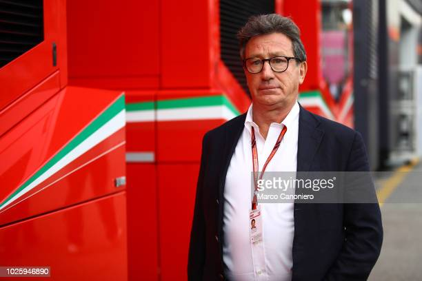 Louis Carey Camilleri Ceo of Ferrari in the paddock during the Formula One Grand Prix of Italy.