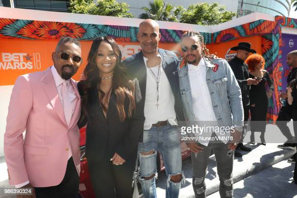 Louis Carr BET Networks President of Media Sales and Connie Orlando EVP Head of Programming attend the 2018 BET Awards at Microsoft Theater on June...