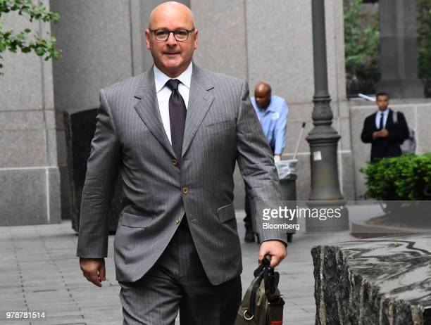 Louis Ciminelli chairman and chief executive officer of LPCiminelli Inc arrives at federal court in New York US on Tuesday June 19 2018 State...