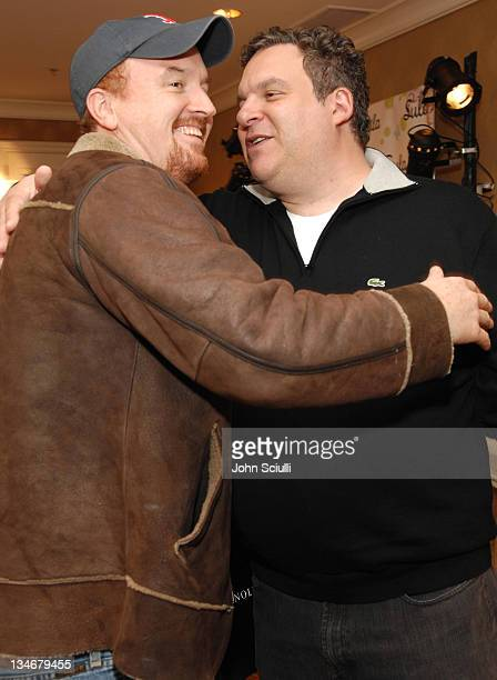 Louis C.K. And Jeff Garlin during HBO Luxury Lounge - Day 1 at Four Seasons Hotel in Beverly Hills, California, United States.