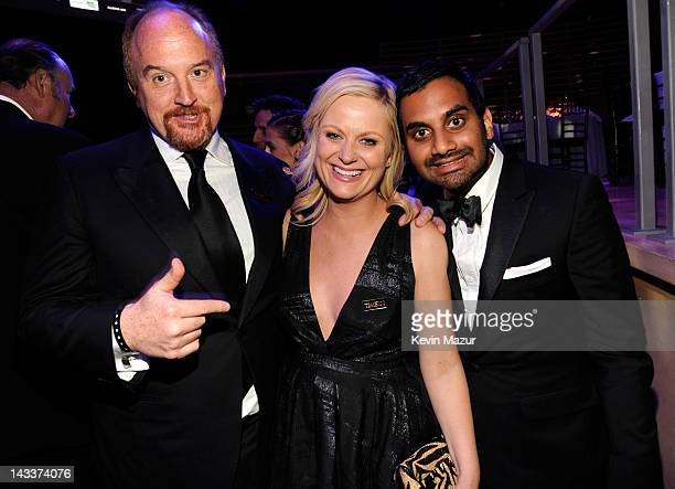 Louis CK Aziz Ansari and Amy Poehler attend the TIME 100 Gala celebrating TIME'S 100 Most Infuential People In The World at Jazz at Lincoln Center on...