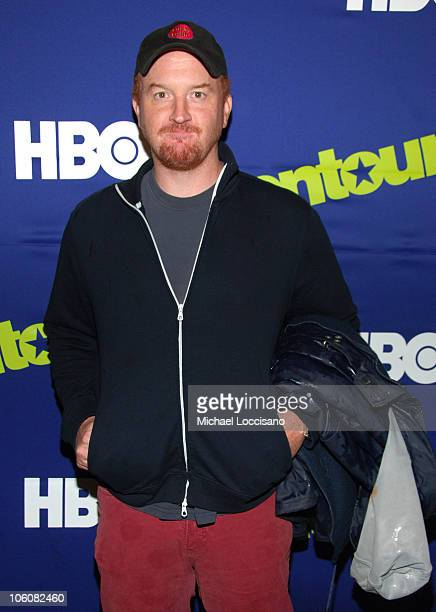 Louis CK during Entourage Season Three New York Premiere Arrivals at Skirball Center for the Performing Arts at NYU in New York City New York United...