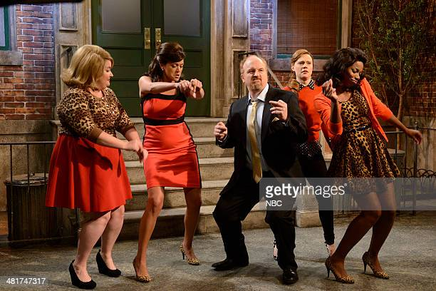LIVE Louis CK Episode 1657 Pictured Aidy Bryant Cecily Strong Louis CK Kate McKinnon Sasheer Zamata