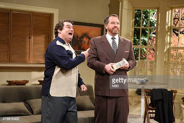 """Louis C.K."""" Episode 1683 -- Pictured: Bobby Moynihan as Frank and Louis C.K. As Tom during the """"Forgotten TV Gems"""" skit on May 16, 2015 --"""