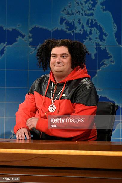 """Louis C.K."""" Episode 1683 -- Pictured: Bobby Moynihan as Riblet during Weekend Update on May 16, 2015 --"""