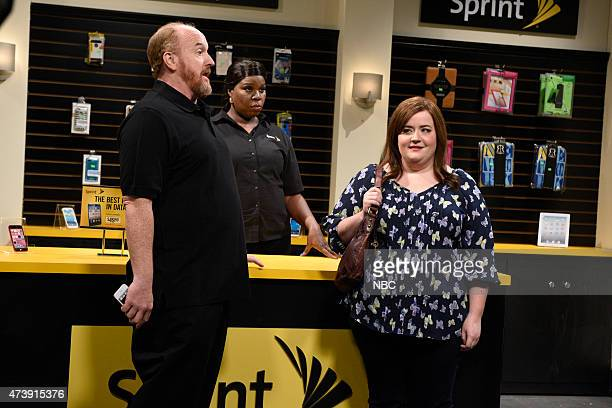 """Louis C.K."""" Episode 1683 -- Pictured: Louis C.K. As Donald, Leslie Jones as Brenda and Aidy Bryant during the """"This Is How I Talk"""" skit on May 16,..."""