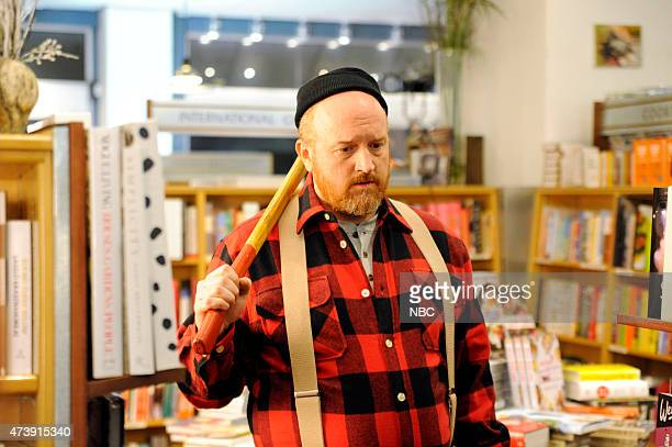 """Louis C.K."""" Episode 1683 -- Pictured: Louis C.K. During the """"Wood PSA"""" skit on May 16, 2015 --"""