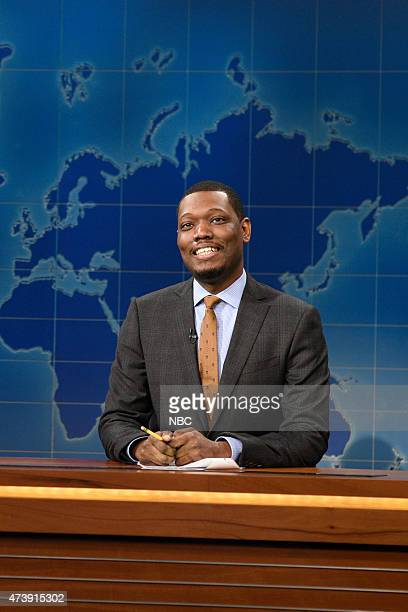 """Louis C.K."""" Episode 1683 -- Pictured: Michael Che during Weekend Update on May 16, 2015 --"""