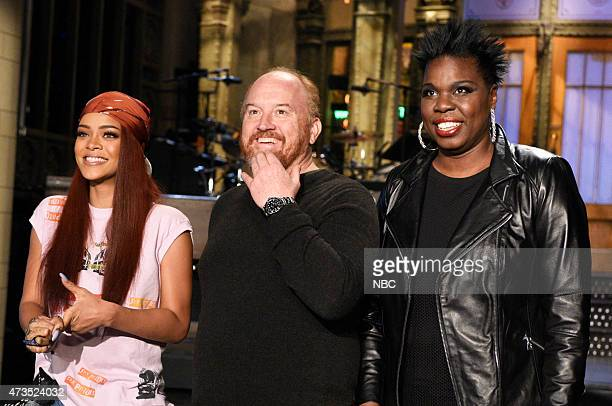 """Louis C.K."""" Episode 1683 -- Pictured: Rihanna, Louis C.K. And Leslie Jones on May 14, 2015 --"""