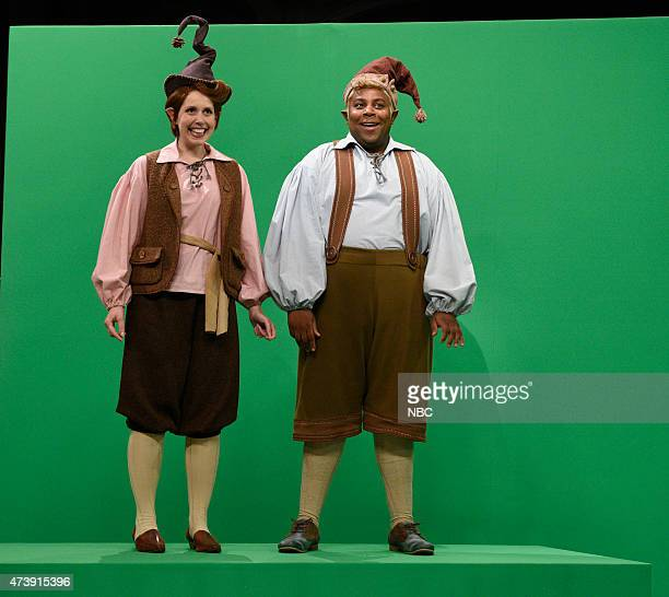 """Louis C.K."""" Episode 1683 -- Pictured: Vanessa Bayer and Kenan Thompson during the """"Shoemaker and The Elves"""" skit on May 16, 2015 --"""