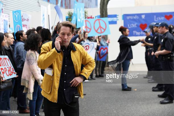 LIVE Louis CK Episode 1721 Pictured Beck Bennett as the director during the Pepsi Ad sketch on April 8 2017