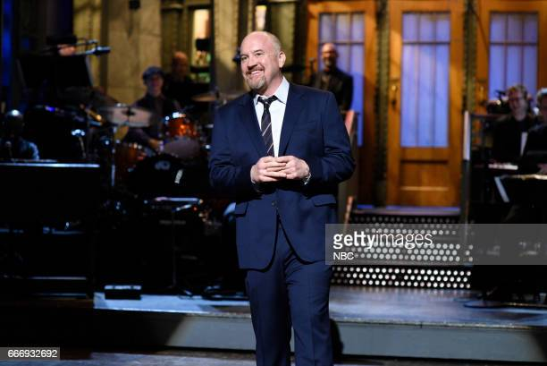 LIVE 'Louis CK' Episode 1721 Pictured Host Louis CK during the monologue on April 8 2017