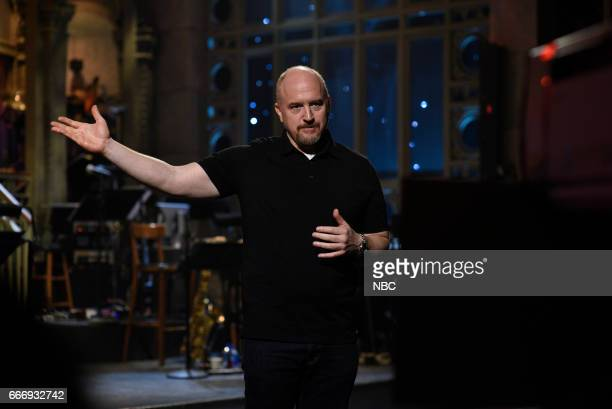 LIVE 'Louis CK' Episode 1721 Pictured Host Louis CK introduces musical guest The Chainsmokers on April 8 2017
