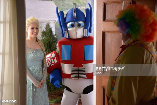 LIVE 'Louis CK' Episode 1721 Pictured Melissa Villaseñor as a birthday performer during the 'Birthday Clown' sketch on April 8 2017