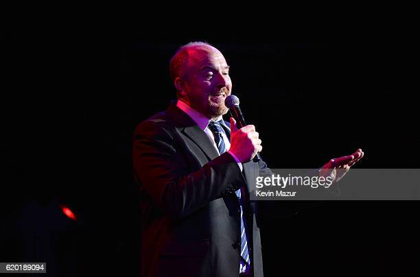 Louis CK performs on stage as The New York Comedy Festival and The Bob Woodruff Foundation present the 10th Annual Stand Up for Heroes event at The...