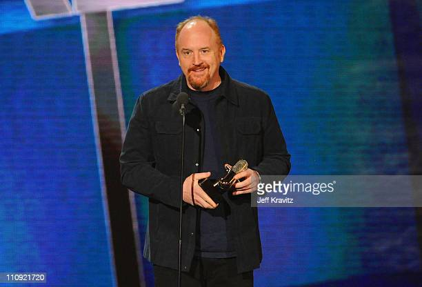 Louis C.K. Speaks onstage at the First Annual Comedy Awards at Hammerstein Ballroom on March 26, 2011 in New York City.