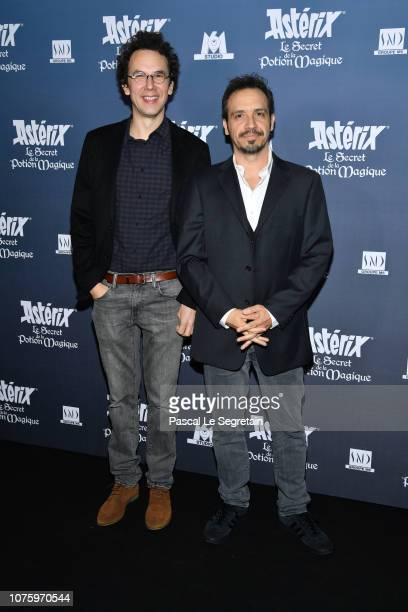 Louis Clichy and Alexandre Astier attend 'Asterix Le Secret de la Potion Magique' Paris Premiere at Cinema UGC Normandie on December 02 2018 in Paris...