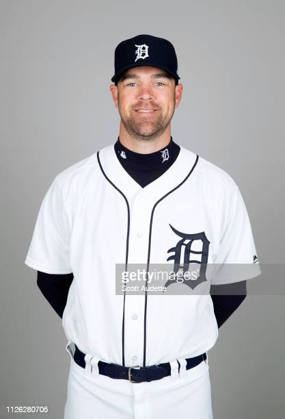 Louis Coleman of the Detroit Tigers poses during Photo Day on Tuesday February 19 2019 at Publix Field at Joker Marchant Stadium in Lakeland Florida