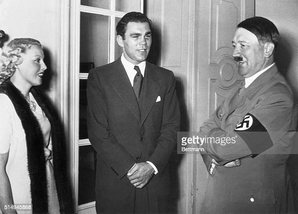 Louis Conqueror Honored by Fuhrer Berlin Germany Max Schmeling who defeated Joe Louis boxing sensation in one of the biggest upsets of fistidom is...