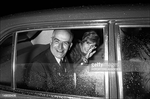 Louis de Funes and his wife Jeanne at the new discotheque 'Village' opening on August 5 1969 in Paris France