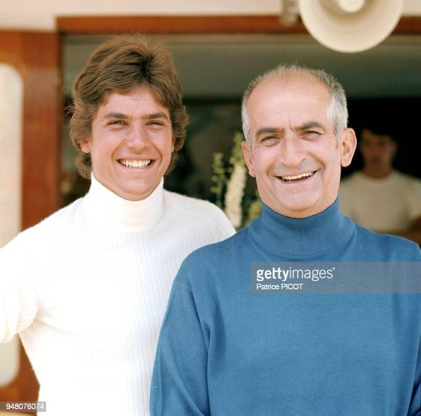 Louis de Funes and son Olivier