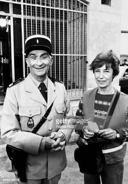 Louis de Funes and wife