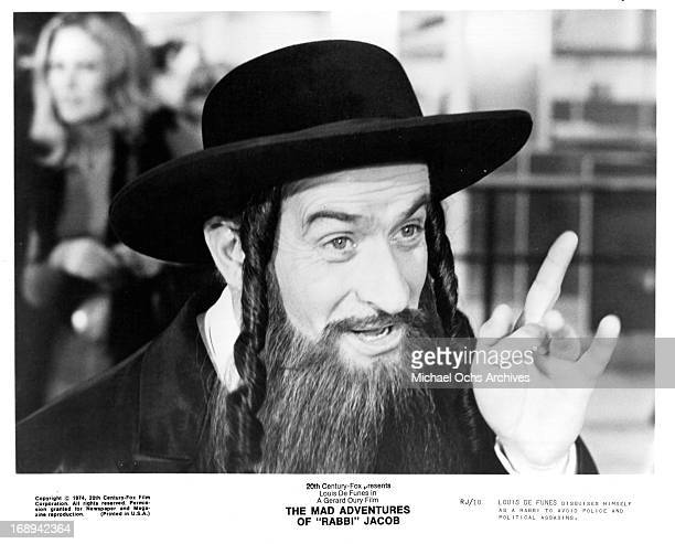 Louis De Funes in a scene from the film 'The Mad Adventures Of 'Rabbi' Jacob' 1973
