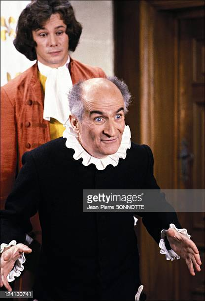 Louis de Funes in 'L'avare' and 'Le grand restaurant' In France In 1979