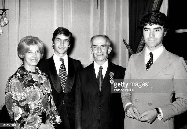 Louis de Funes with wife and sons Olivier and and Patrick