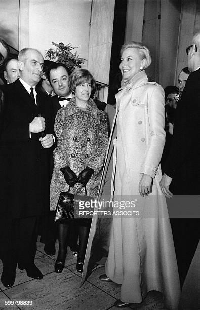 Louis de Funès et Michèle Morgan à une soirée en France