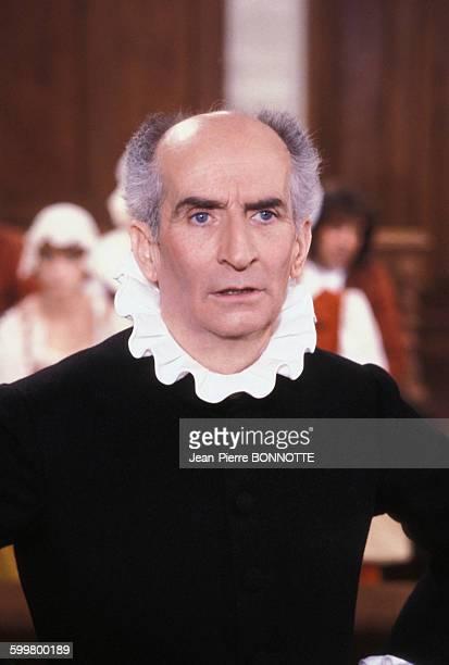 Louis de Funès lors du tournage du film 'L'Avare' de Jean Girault en 1979 en France