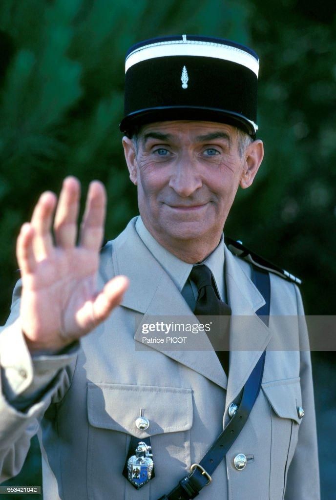 Louis de Funès sur le film 'le gendarmes et les extra-terrestres' en 1978 : News Photo