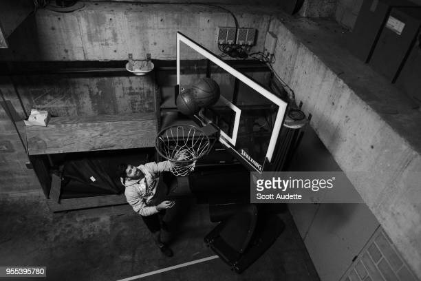 Louis Domingue of the Tampa Bay Lightning plays basketball during the pregame warm ups against the Boston Bruins during Game Five of the Eastern...