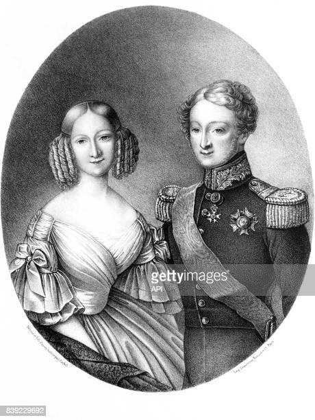 Louis d'Orléans et Victoire de SaxeCobourgKohary duc et duchesse de Nemours