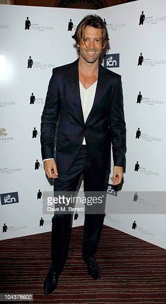 Louis Dowler attends the David Gandy's 'Style Guide For Men' iphone app launch party at the Criterion Restaurant on September 22 2010 in Picadilly...