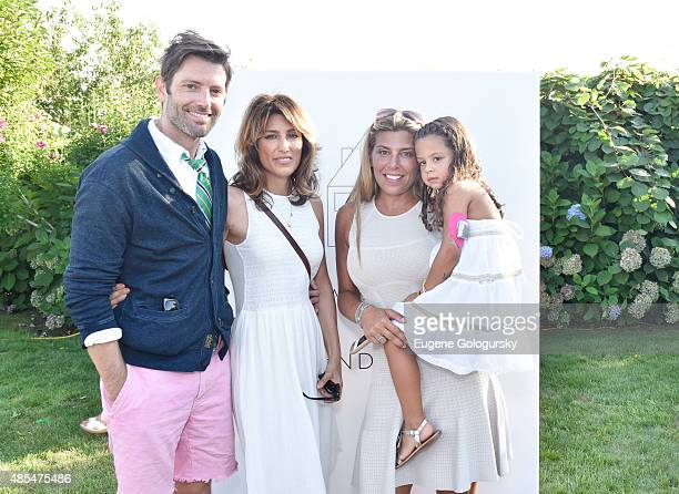 BRIDGEHAMPTON NY AUGUST Louis Dowler Jennifer Esposito and Claudine DeNiro attend the Petit Maison Chic Charity Fashion Show Benefiting Beyond Type 1...