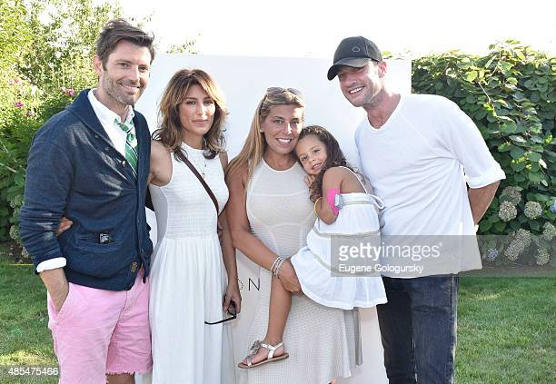 Louis Dowler Jennifer Esposito Claudine DeNiro and Sam Talbot attend the Petit Maison Chic Charity Fashion Show Benefiting Beyond Type 1 on August 27...