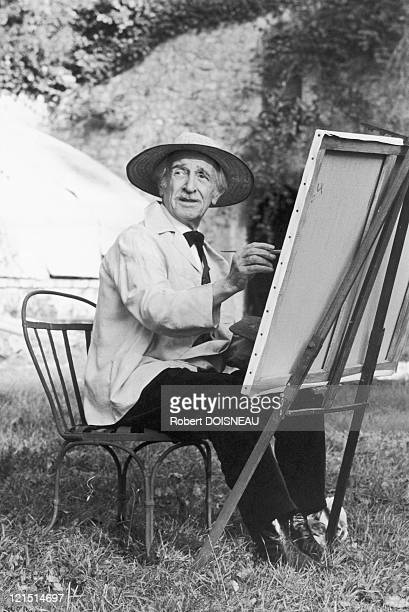 """Louis Ducreux, French Actor, On The Shooting Of The Film """"A Sunday In The Country"""" By Bertrand Tavernier"""