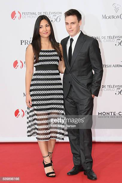 Louis Ducruet and girlfriend arrives at the 56th Monte Carlo TV Festival Opening Ceremony at the Grimaldi Forum on June 12, 2016 in Monte-Carlo,...