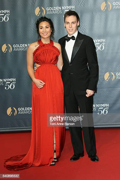 Louis Ducruet and Girlfriend Marie Chevalier arrive at the 56th Monte Carlo TV Festival Closing Ceremony and Golden Nymph Award at The Grimaldi Forum...